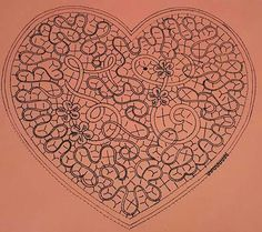 Corazón Lace Heart, Lace Jewelry, Bobbin Lace, Lace Detail, Macrame, Vintage World Maps, Butterfly, Spirals, Pillows