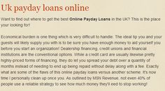 http://www.superpaydayloansonline.org.uk/ Online Payday Loans UK all you have to know