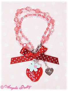 Angelic Pretty » Accessories » Polkadot Strawberry-chan Bracelet