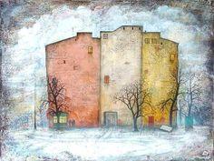 "Nikolay Bogomolov — ""Three fellows"", oil on canvas, 60*80cm, 2004 / Saint Petersburg, Russia"
