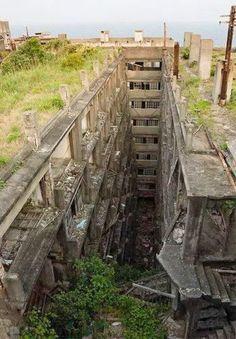 15 of the World's Most Strange Abandoned Places - Hashima Island, Japan