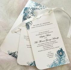 Above Feathers Wedding Invitation