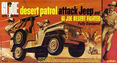 Mach The Rat Patrol was going strong on ABC, and Hasbro got. GI Joe in on the action with the Desert Patrol Attack Jeep! Whether you are a GI Joe collector, or a fan of The Rat Patrol, this. Retro Toys, Vintage Toys, 1960s Toys, Gi Joe, The Rat Patrol, Military Modelling, Toy Soldiers, Classic Toys, Old Toys