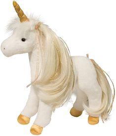 Amazon.com: Douglas Golden Princess Unicorn Plush Stuffed Animal: Toys & Games Golden Princess, Unicorn Pillow, Mane N Tail, Smiley, Corgi, Plush, Toys, Animals, Amazon