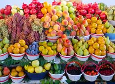 Armenian fruits in market