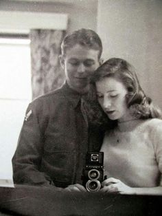 1940's couple. They look almost peaceful even though their world is a at war