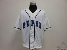 Mens Vtg Pepsi Cola Button Up Baseball Jersey sz 2XL SEWN Generation Next  #Pepsi #Jerseys #tcpkickz