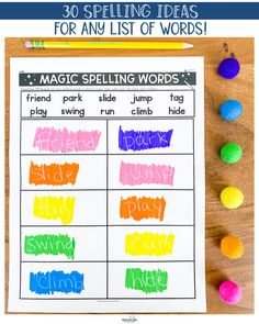 We work hard to teach our students the correct way to spell words. We spend countless hours Spelling Word Activities, Spelling Word Practice, First Grade Spelling, Spelling Lists, Sight Word Worksheets, Spelling Words, Fun Activities, Listening Activities, Educational Activities