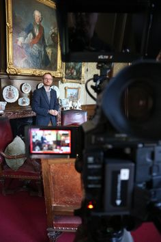 Februari 21, 2020. Filming our second item video about the German emperor Wilhelm II, who fled to the Netherlands and got political asylum here. This time about his time in Huis Doorn. A castle he bought and were he lived the rest of his life.