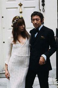 Jane Birkin & Serge Gainsbourg #celebstylewed #weddings
