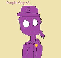 Purple Guy drawn by me :D