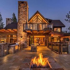 "5,875 Likes, 22 Comments - The Luxury Scene (@theluxuryscene) on Instagram: ""Stunning Stone and Wood Home on Lake Tahoe, CA ⠀ Follow @pricey_properties @pricey_properties By…"""