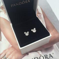 a60ad7da9 Pandora Dazzling MICKEY clear cz DISNEY earrings New pandora earrings  Pandora Jewelry Earrings Disney Pandora,