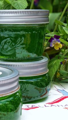 Homemade mint jelly