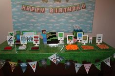 MineCraft Birthday Party Ideas from Catch My Party.. Great site for all party themes