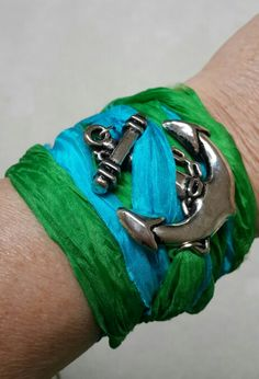 Wrist band with anchor detail
