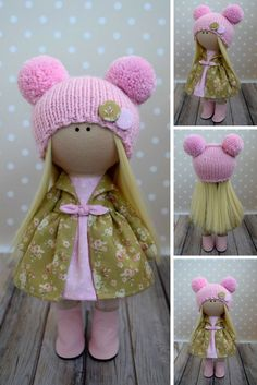 Baby Pink Doll Tilda Fabric Doll Winter Soft Doll Handmade Textile Doll Rag Art Doll Nursery Christmas Doll Kids Present Doll by Olga G This is handmade cloth Baby Doll Nursery, Baby Dolls, Doll Toys, Chat Origami, Pink Doll, Presents For Kids, Soft Dolls, Baby Crafts, Fabric Dolls