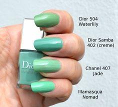 Image result for chanel dior jade nail polish comparison