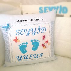 Crossstitch baby pillow