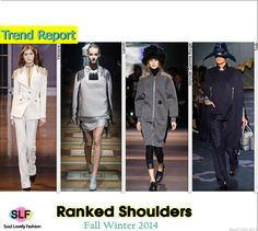 Ranked Shoulders #Fashion Trend for Fall Winter 2014 #Fall2014 #Fall2014Trends #FashionTrends2014