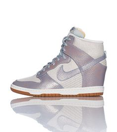 NIKE Women s high top sneaker Lace up clousre All-over glitter material  Padded tongue with 8c27a1bc75e8