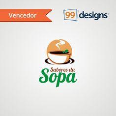 Logo vencedora do Concurso Sabores da Sopa 99designs