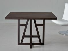 Square solid wood table Fachwerk Collection by Vitamin design