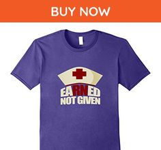 Mens Earned Not Given Nurse T-Shirt 3XL Purple - Careers professions shirts (*Amazon Partner-Link)