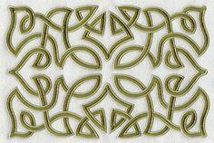 Celtic Knotwork Rectangle design (E3852) from www.Emblibrary.com