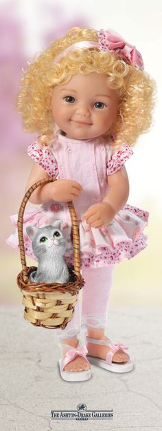 Make purr-fectly sweet memories with this lifelike child doll and her sweet kitten!