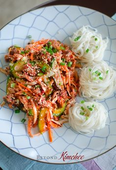 Learn how to make spicy Korean style sea snail salad with canned sea snail and vegetables served over the cold wheat vermicelli or noodles. Tutorial recipe!