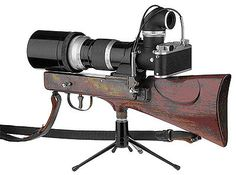 Leitz: Leica-Gewehr (Rifle) Rifle-edition of the Leica. There are known models with an IIIf body.