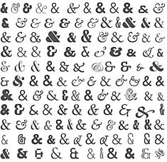 Ah, I love a beautiful ampersand. I can't decide which one on this link I love more though, the tattoo, the eye chart or the book cover? Calligraphy Letters, Typography Letters, Graphic Design Typography, Font Alphabet, Calligraphy Handwriting, Ampersand Tattoo, Branding And Packaging, Web Design, Print Design