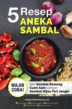 Indonesian Sambal Recipe, Indonesian Cuisine, Indian Pickle Recipe, Sambal Sauce, Chilli Recipes, Malaysian Food, Cooking Recipes, Healthy Recipes, Homemade Sauce