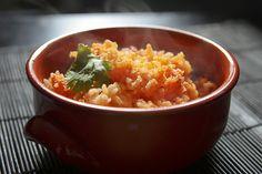 Mexican Rice.  Mexican food.  Comida Mexicana