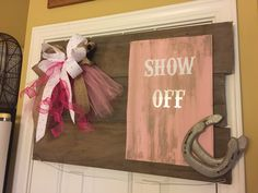 Equestrian Horse Show Ribbon Display Board -- hang special ribbons on the wire