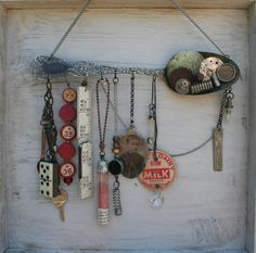 So creative! Love this vintage spoon assemblage!