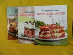 Weight Watchers Annual Recipes for Success 2013, 2008, 2006 Diet, Weight Loss HC