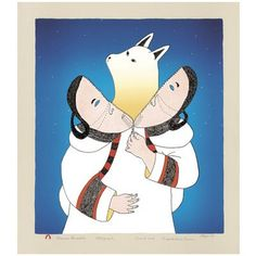Inuit art -  not sure who the artist is.  Possibly Germaine Amaktauyok.