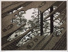 Bought an MC Escher book yesterday and this is one of my favourites - unbelieveable works.