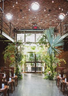 Lush indoor ceremony site in New York