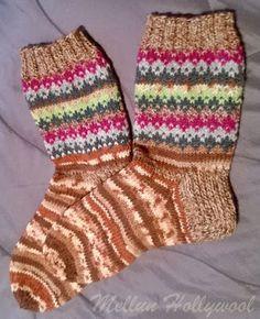 Mellun Hollywool: Uusi kuvio jämälangoille Knit Crochet, Diy And Crafts, Socks, Tuli, Knitting, Fashion, Tutorials, Moda, Tricot