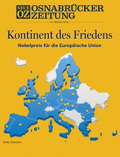 Unser Cover für die App beschäftigt sich am Samstag, 13. Oktober, mit dem Friedensnobelpreis 2012 für die EU. Alle Infos zum Digitalabo gibt es hier: www.noz.de/digitalabo