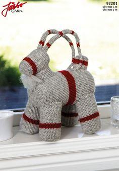 "Crochet ""Gävlebocken"". Diy Crochet Patterns, Burlap Wreath, Horn, Style Inspiration, Knitting, Christmas, Advent, Knits, Crocheting"