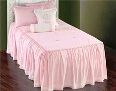 Daphner Pink and White Comforter Bedding Sets - Little Girls Bedding Sets, Girls Pink Bedding, Pink Bedspread, Kids Bedroom Sets, Teen Bedding, Ruffle Bedding, Girls Bedroom, Girl Room, Kids Rooms
