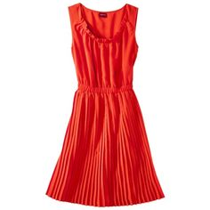 Merona® Women's Pleated Shirtdress - Assorted Colors ----- Knit it with ribs or cables on the skirt instead of pleats???