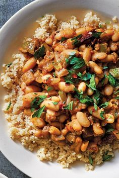 Slow Cooker Eggplant-And-White Bean Ragout Vegetarian Comfort Food, Vegetarian Recipes, Healthy Recipes, Slow Cooker Recipes, Cooking Recipes, Crockpot Recipes, Slow Cooker Eggplant, Plant Based Whole Foods, Crockpot Dishes
