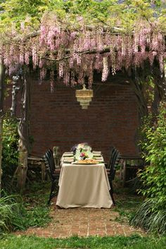 Would love a wisteria arbor like this