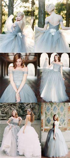 2017 Charming Off Shoulder Tulle V Back New Design Unique Most Popular High Quality Custom Wedding Dress, 2018 Prom dress, PD0398