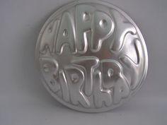 Vtg Wilton Happy Birthday Cake Pan Bakeware Mold 503 611